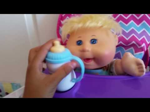 Cabbage Patch Kid morning routine