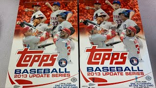 2013 TOPPS UPDATE BASEBALL CARD BOX OPENING!  (Throwback Thursday)