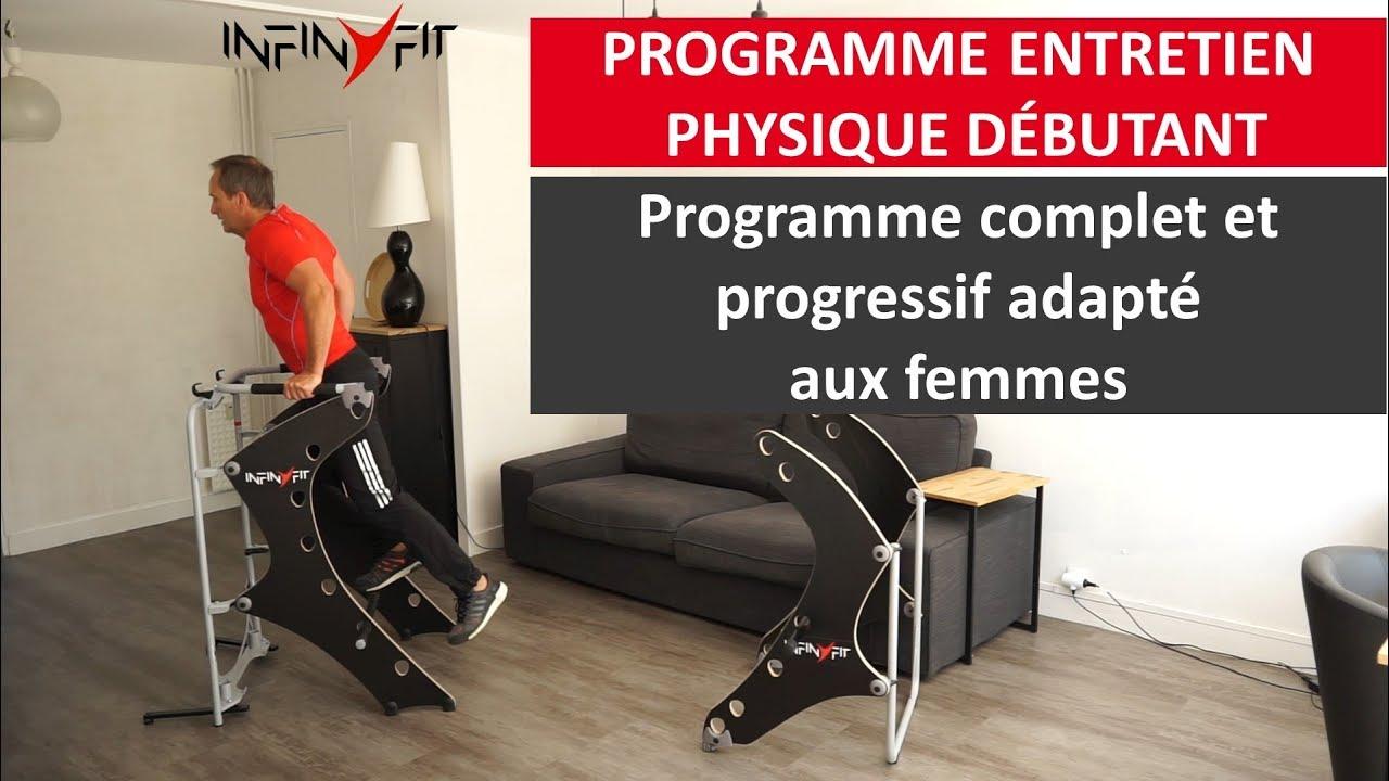 programme de musculation au poids du corps d butant et femme la maison avec l 39 infinyfit youtube. Black Bedroom Furniture Sets. Home Design Ideas