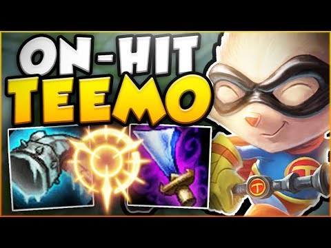 IS THERE ANYTHING MORE ANNOYING THAN THIS ON-HIT TEEMO BUILD! NEW TEEMO SEASON 8! League of Legends