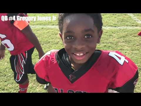 8yr old QB Gregory Jones Jr. #4 Bill Arp Falcons (Highlights) 2017