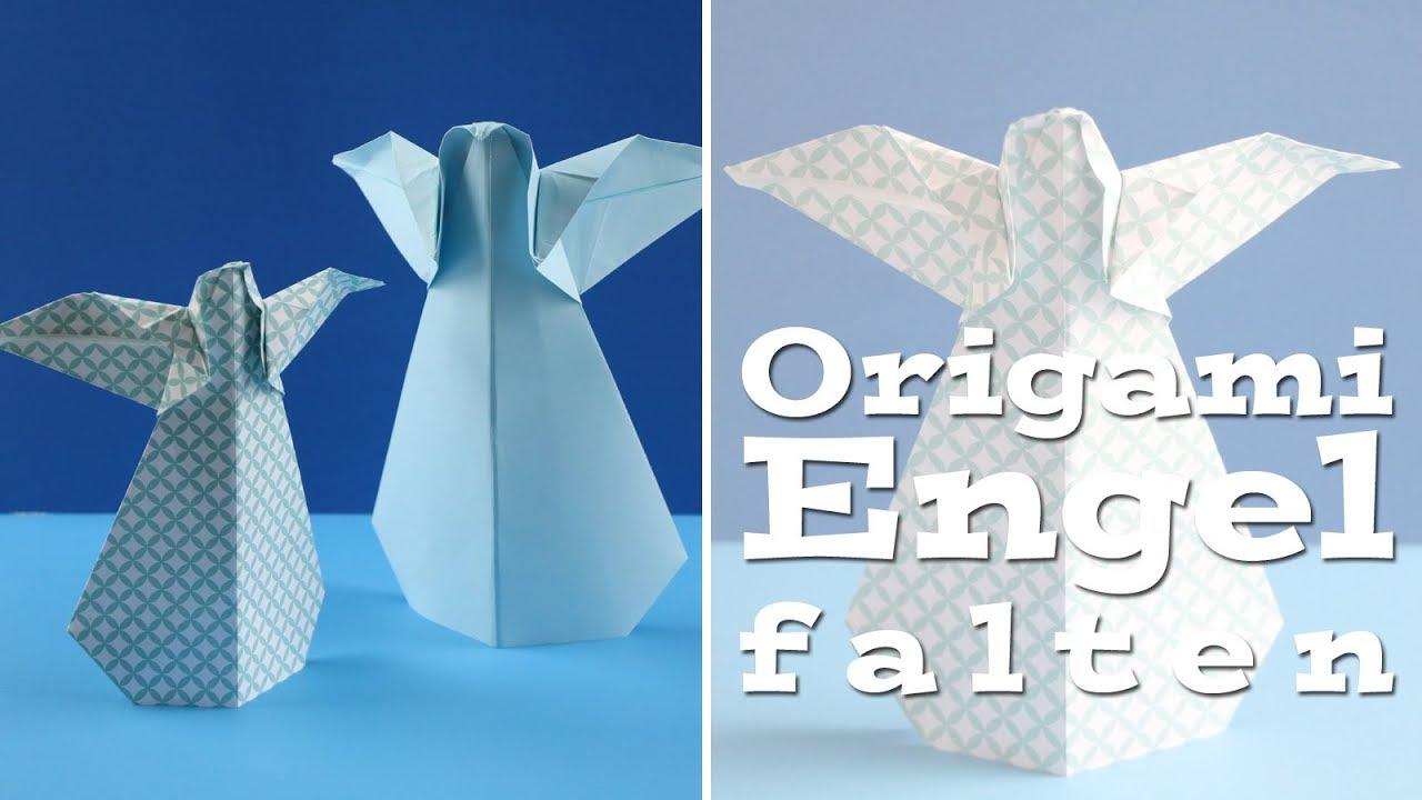origami engel anleitung f r papierengel youtube