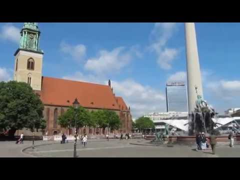 Berlin TV Tower - Neptune Fountain - St Marys Church - Rotes Rathaus