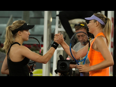 Eugenie Bouchard motivated by fellow players to beat Maria Sharapova – video