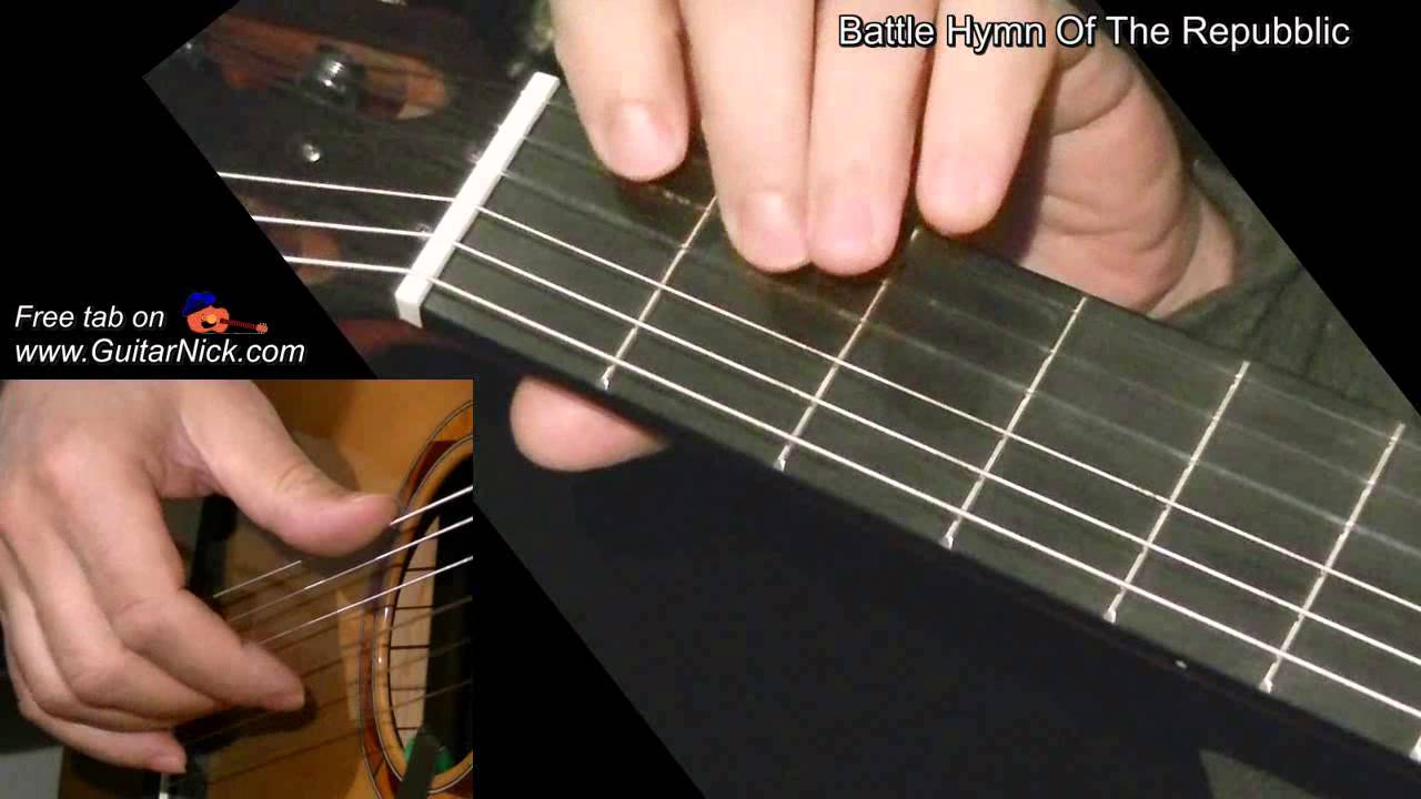 Battle Hymn Of The Republic Easy Guitar Lesson Tab By Guitarnick