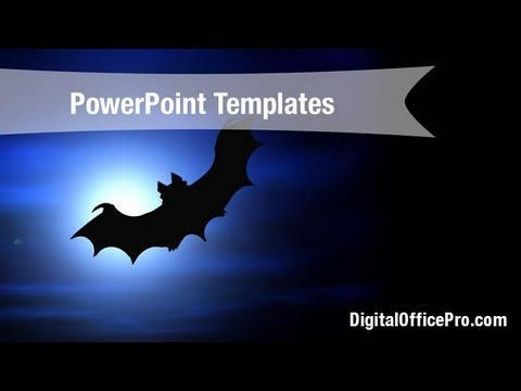 scary bat powerpoint template backgrounds - digitalofficepro, Modern powerpoint