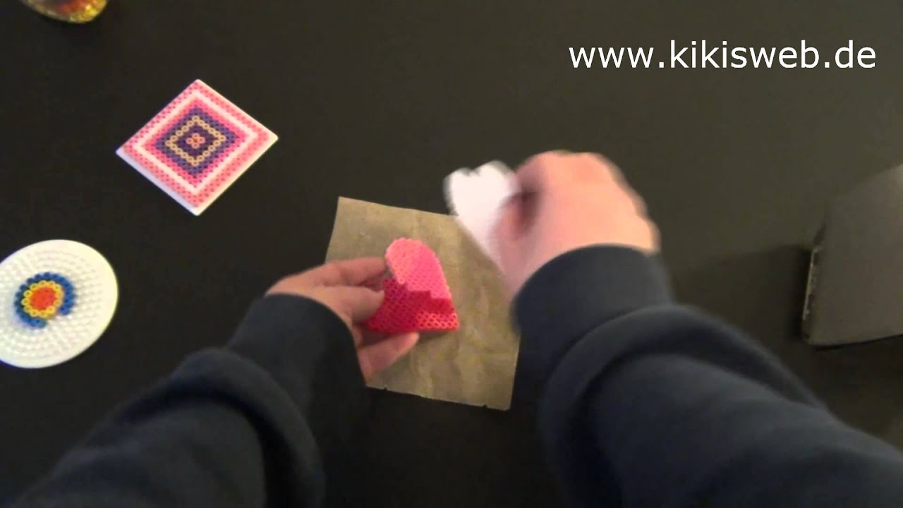 Gut gemocht Basteln: Bügelperlen Anleitung - YouTube EP49