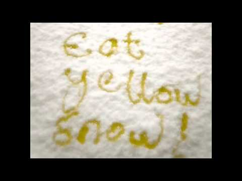 Yellow Piss Holes In The Snow by Roy Payne and Derek Pilgrim