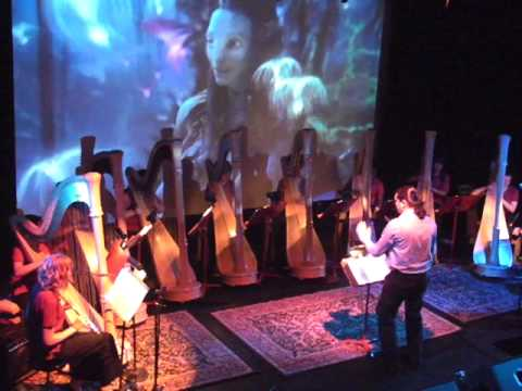 Ricky Rasura and the Odessa High School Harp Ensemble live in Dallas, Texas