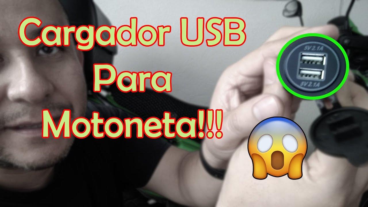 😎Cargador USB Para Motoneta🙀