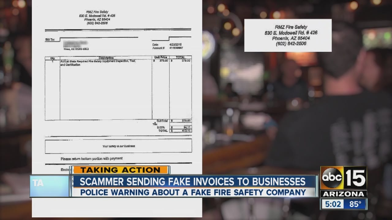 scammer sending fake invoices to businesses - Invoices For Businesses