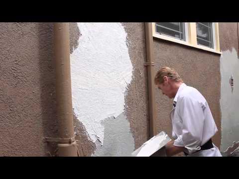 Remove Loose peeling stucco painted finish