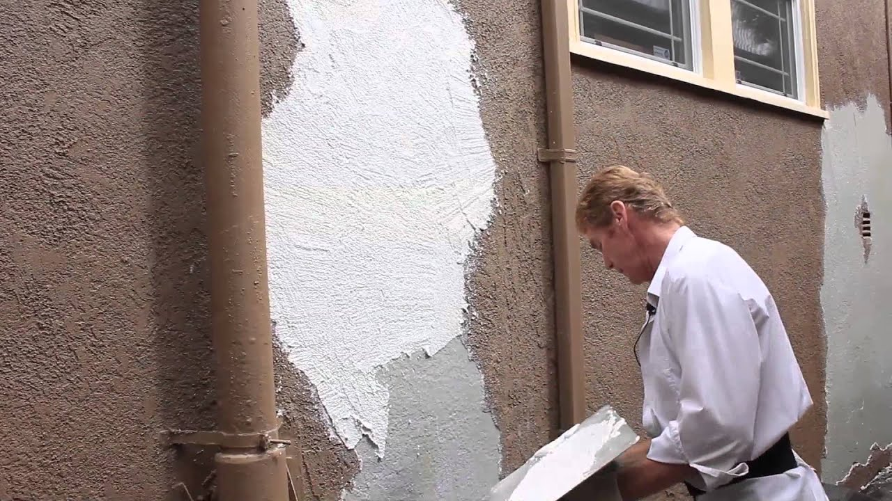 Remove loose peeling stucco peeling finish youtube How to plaster a house exterior