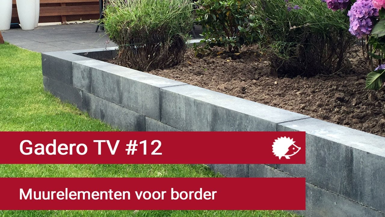 Fabulous 12 Verhoogde border maken van betonnen muurelementen - YouTube &DV09