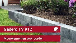 #12 Verhoogde border maken van betonnen muurelementen