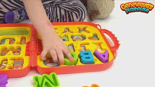 Genevieve Teaches kids Alphabet Sounds with a Toy Puzzle!