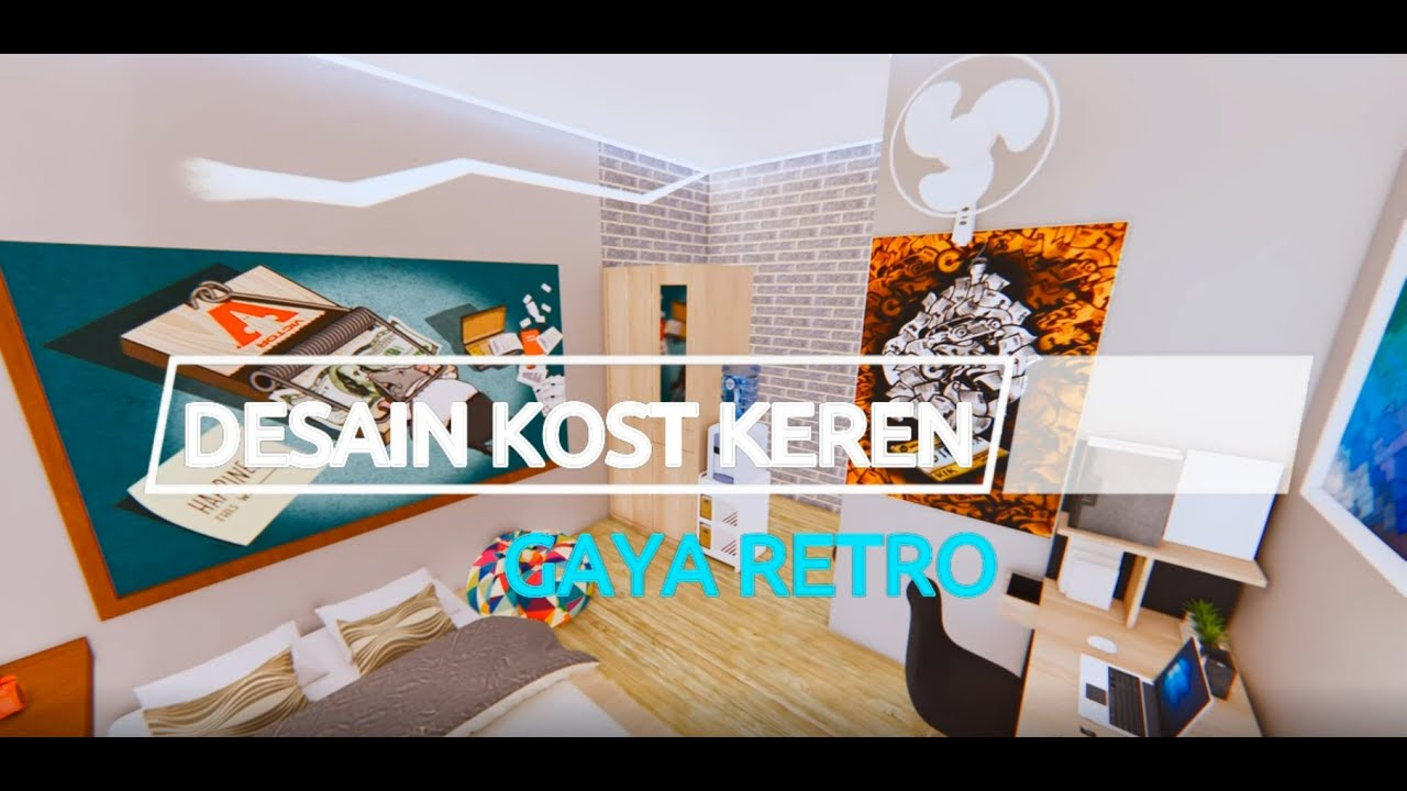 Desain Kamar Tidur Kamar Kost Ukuran 3x4 Gaya Retro Youtube