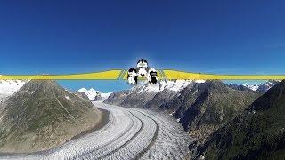 Aletsch glacier - FPV style
