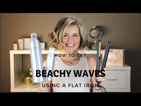 How to Get Beachy Waves on my Bob Haircut Using a Flat Iron