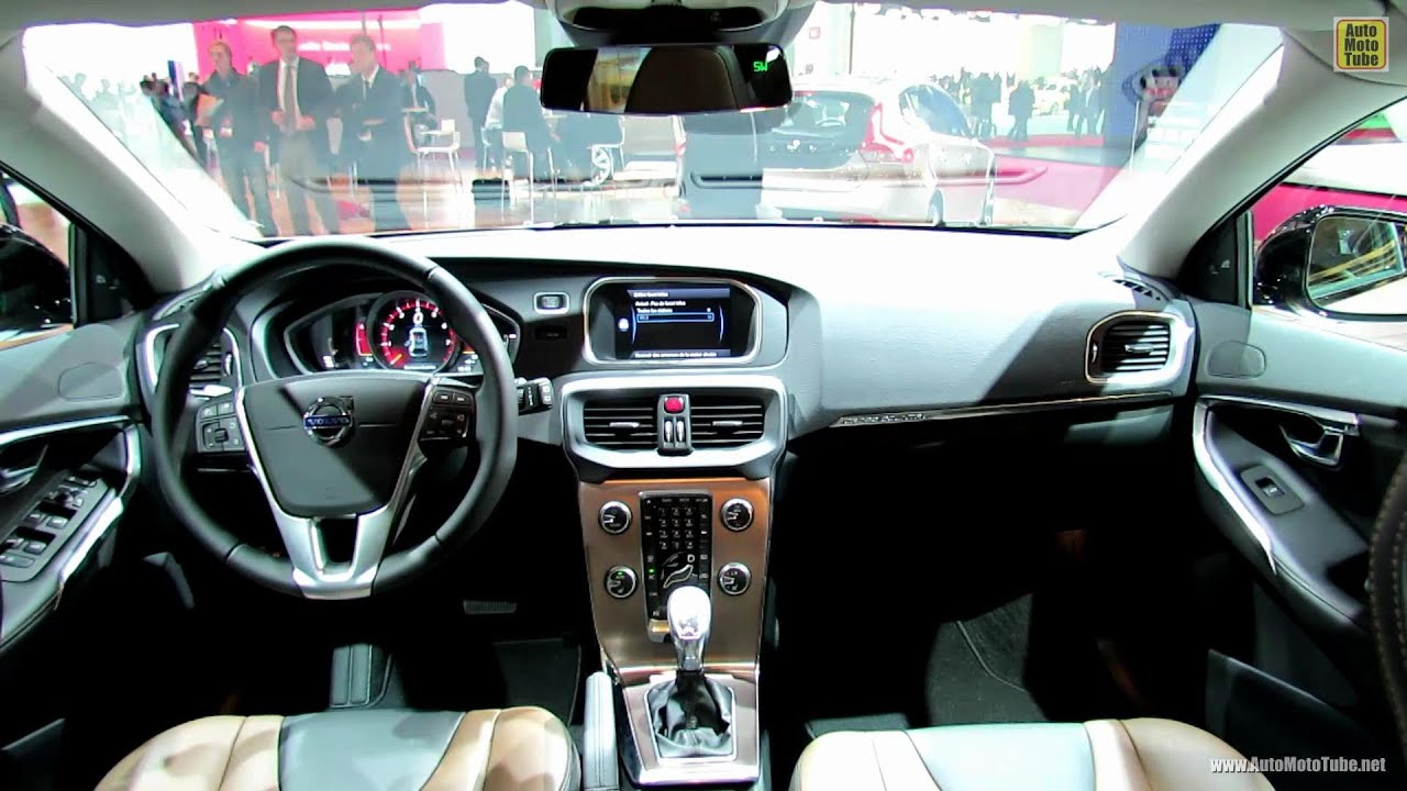 2013 Volvo V40 Cross Country Interior - 2012 Paris Auto Show - YouTube