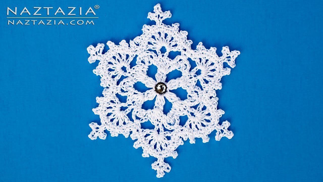 How to Crochet a Snowflake Ornament - DIY Tutorial - Winter ...