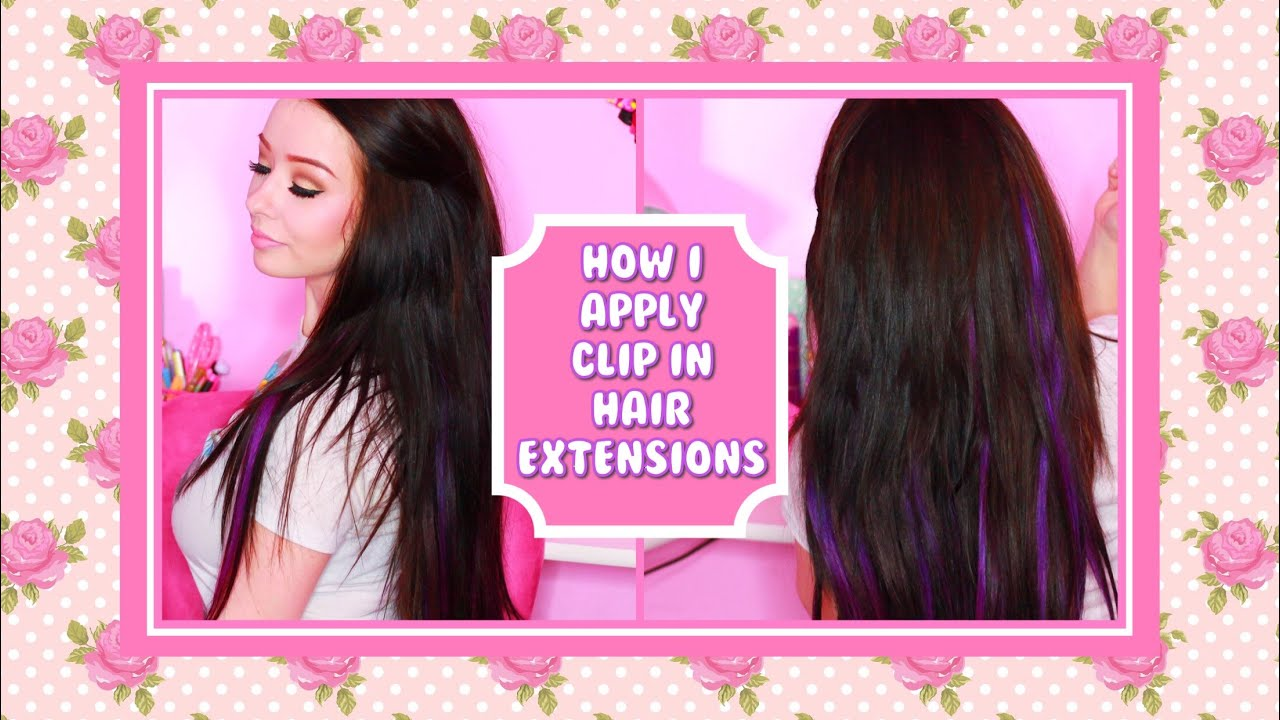 How To Put In Hair Extensions Youtube
