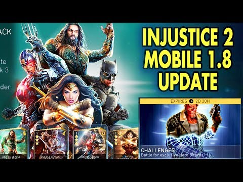 Injustice 2 Mobile 1.8 Update Review. HELLBOY, 4 New Justice League Characters! Leagues are coming?