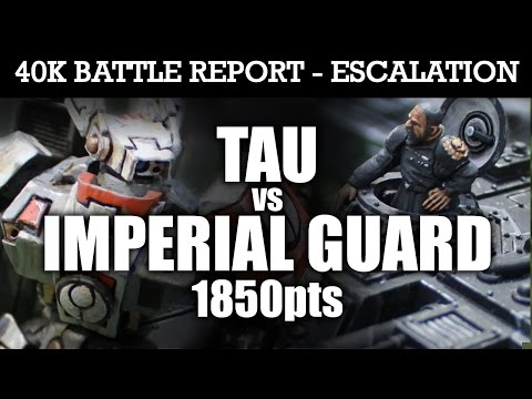 Tau vs Imperial Guard Warhammer 40K Escalation Battle Report MISSION IMPOSSIBLE! 7th Edition 1850pts