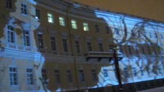 Рождество-2010. Ярмарка. Лазерное шоу на Дворцовой