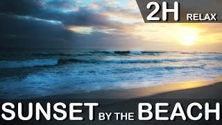 2 Hours Sunset by the Beach, Relaxation in Nature, Meditation Music, Binatural Beats