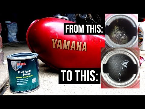 How To: Clean and Seal a Motorcycle Gas Tank | Yamaha RX50 Restoration