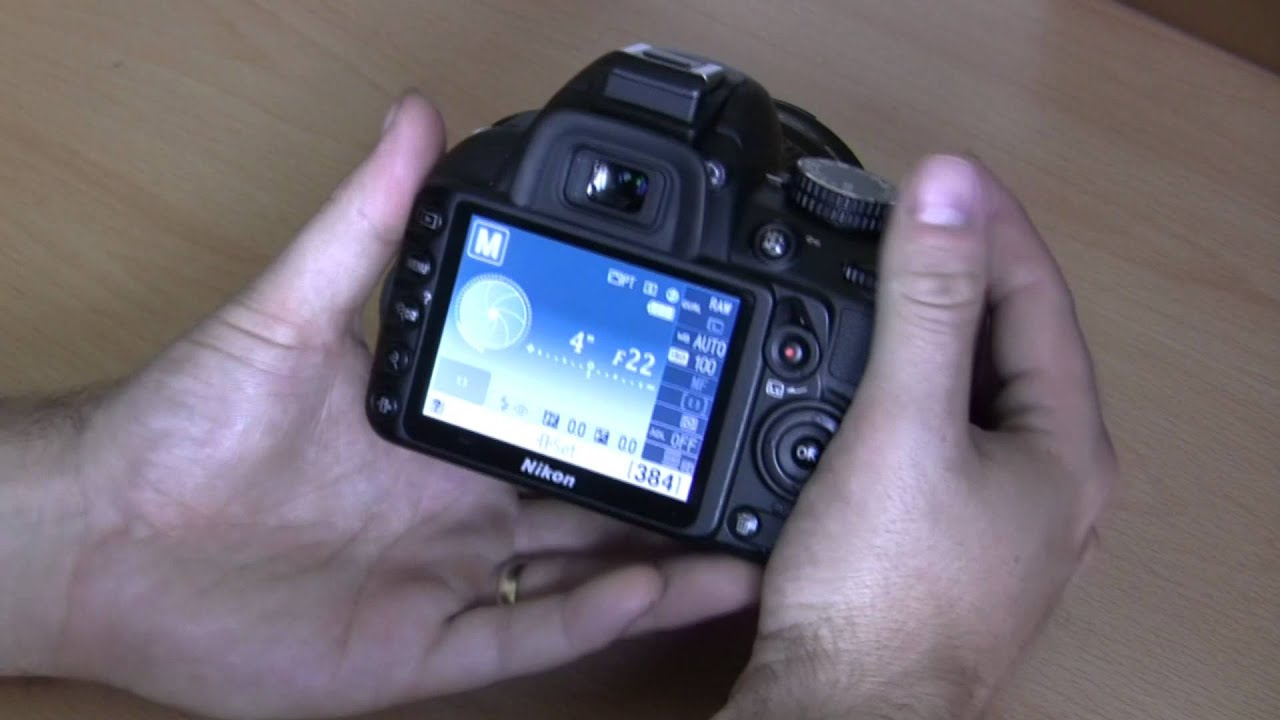 Nikon D3100 basic beginner operations Part 2  Manual and semi manual modes