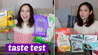 Taste Test // Vegan Cheese Snacks, Meatless Jerky, Chocolate & More