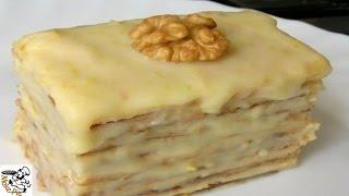 Cake recipes with condensed milk.Puff  cake with condensed milk