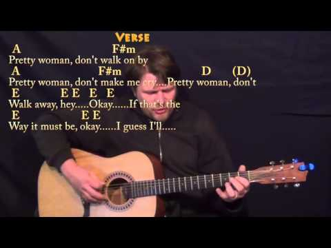 Pretty Woman (Roy Orbison) Strum Guitar Cover Lesson with Chords/Lyrics