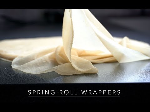 Spring Roll Wrappers  , How To Make And How To Fold It In Three Easy Ways