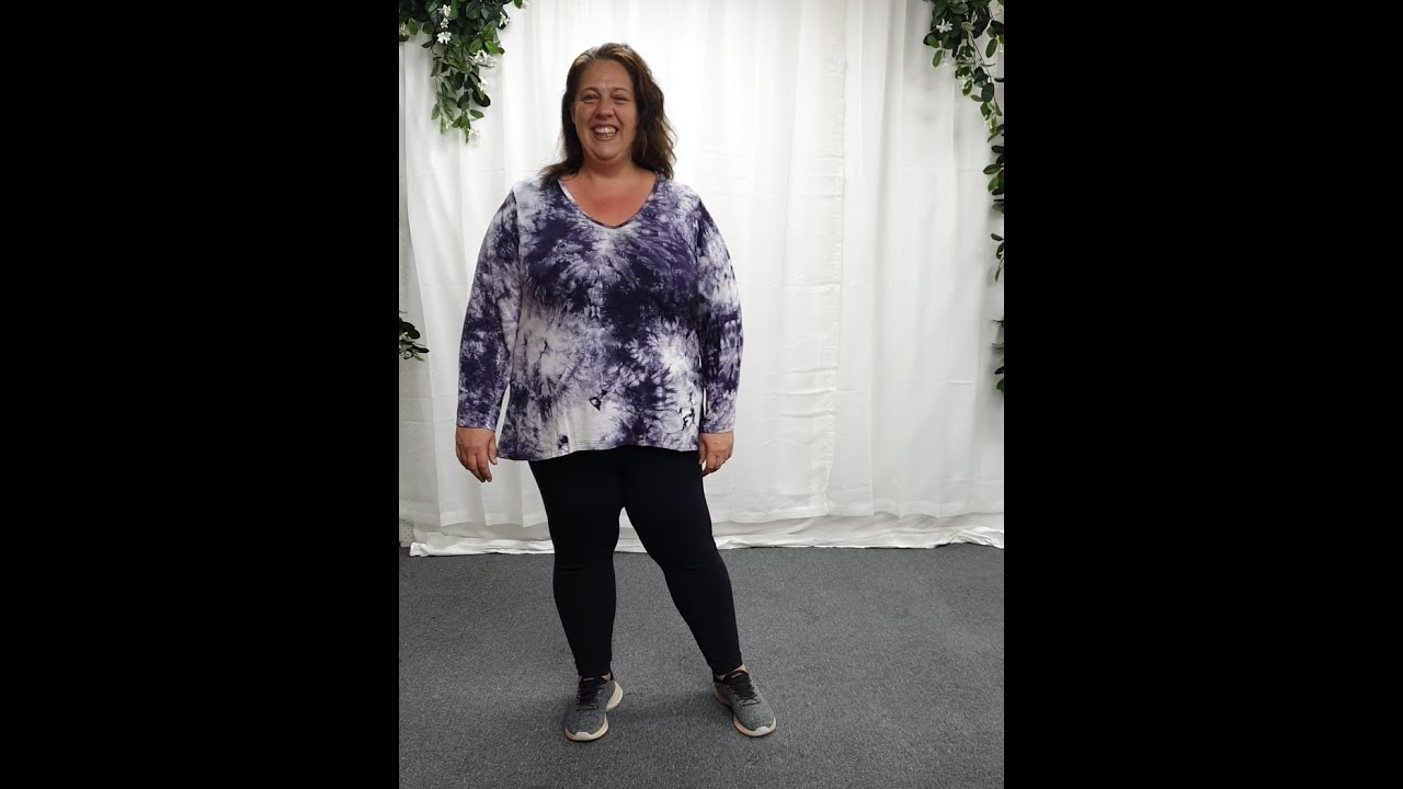 Plus Size Purple Tie Dye Top