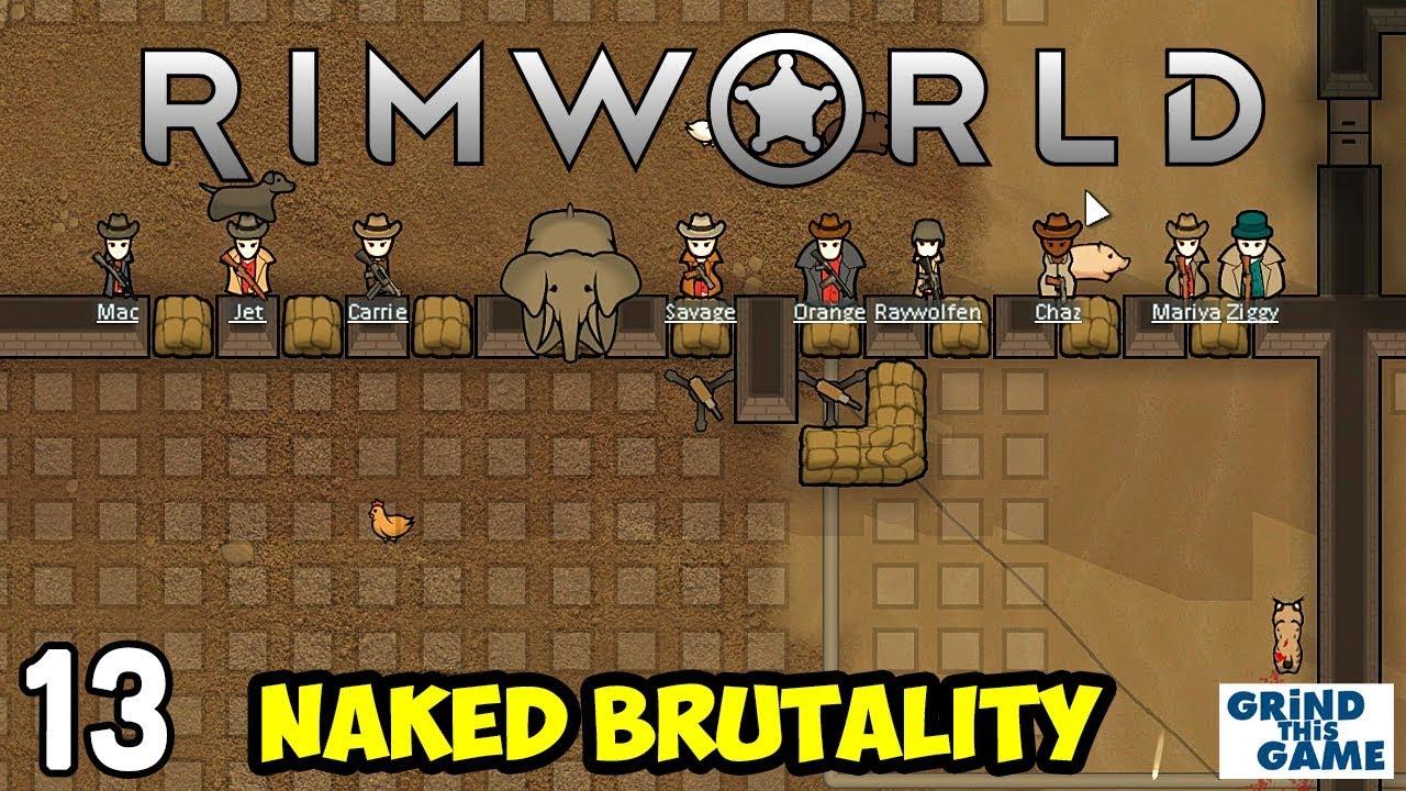 Rimworld 1 0 - Naked Brutality Megabase #13 - Lynx Invasion - [4k]