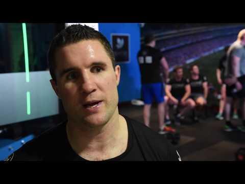 Ireland Rugby Legends train Dartry health club