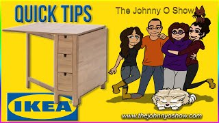 QT. #3 IKEA | Adding Wheels to the NORDEN Gateleg Table
