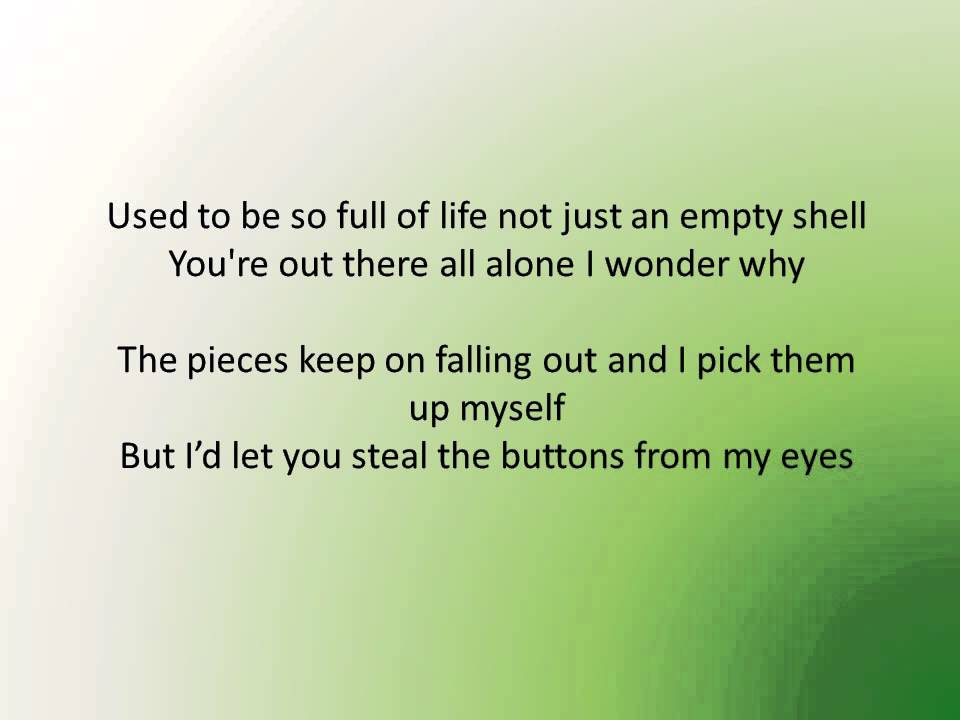 Lyric pick up the pieces lyrics : Alex and Sierra Scarecrow - Lyrics - YouTube