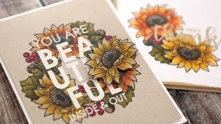 Autumn Copic Coloring + Embossed Greetings