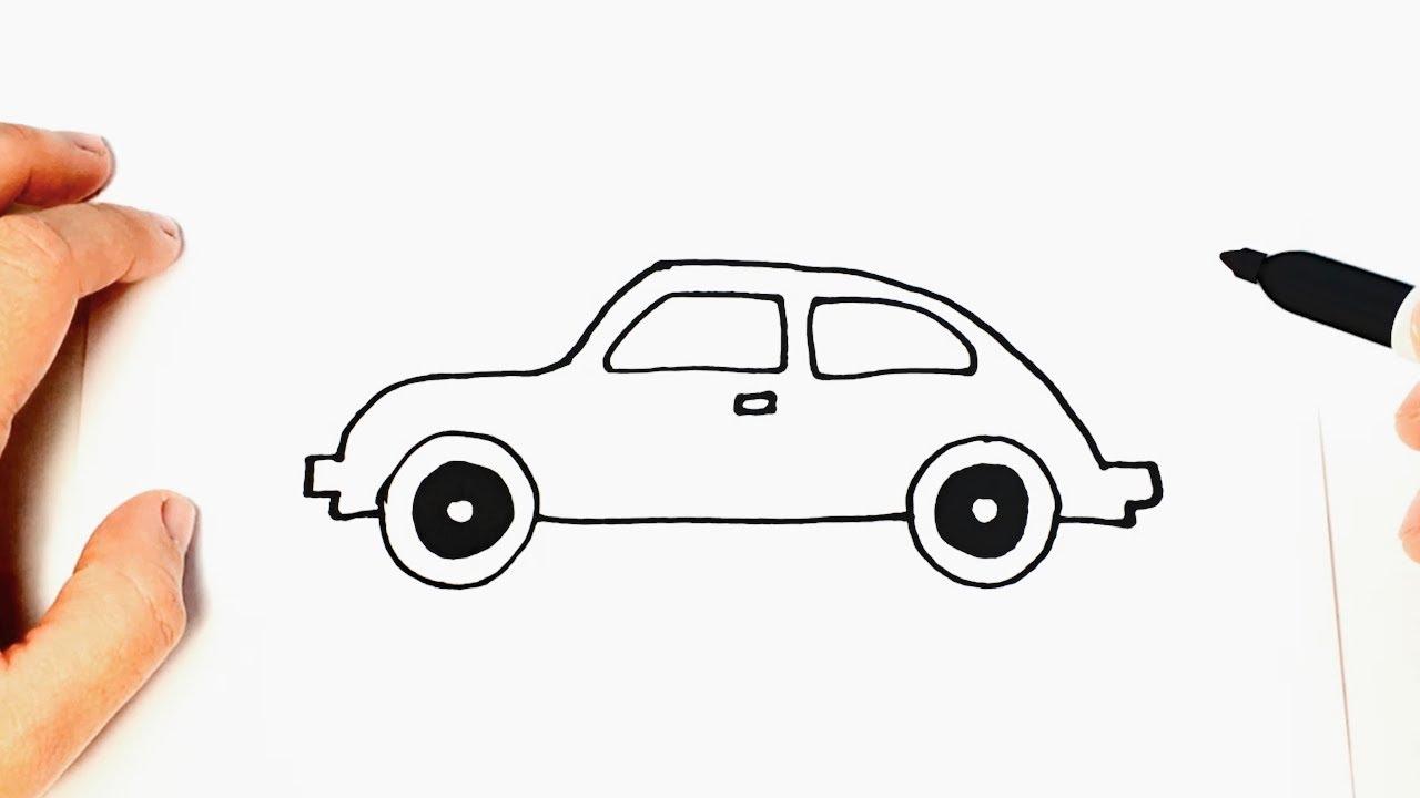 Cómo Dibujar Un Auto Paso A Paso Dibujo Fácil De Auto Youtube