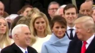 Melania Trump Fake Smile And Frown (with sound) - What Did Donald Trump Say At Inauguration?