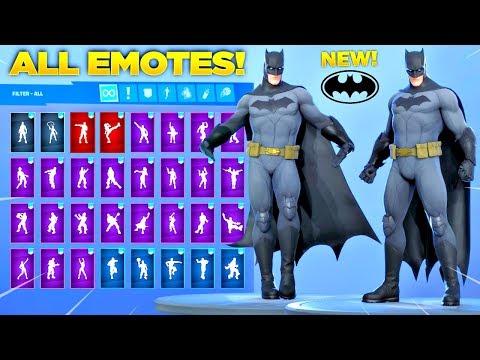*NEW* BATMAN SKIN Showcase With All Fortnite Dances & Emotes! (Batman Comic Book Outfit)