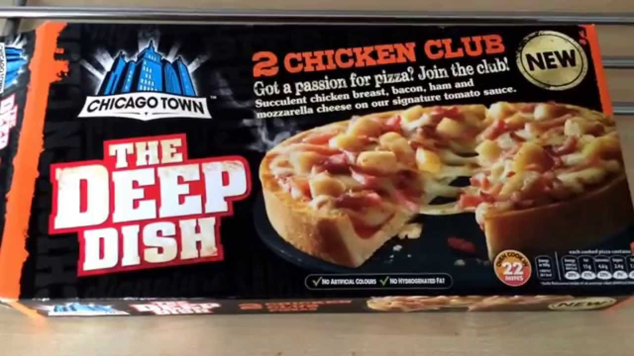 Chicago Town Chicken Club Deep Dish Pizza Review Youtube