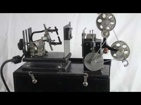 Rare Antique Edison Kinetoscope Home Projector Demonstration