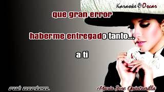 Fue dificil Maria Jose Quintanilla Karaoke