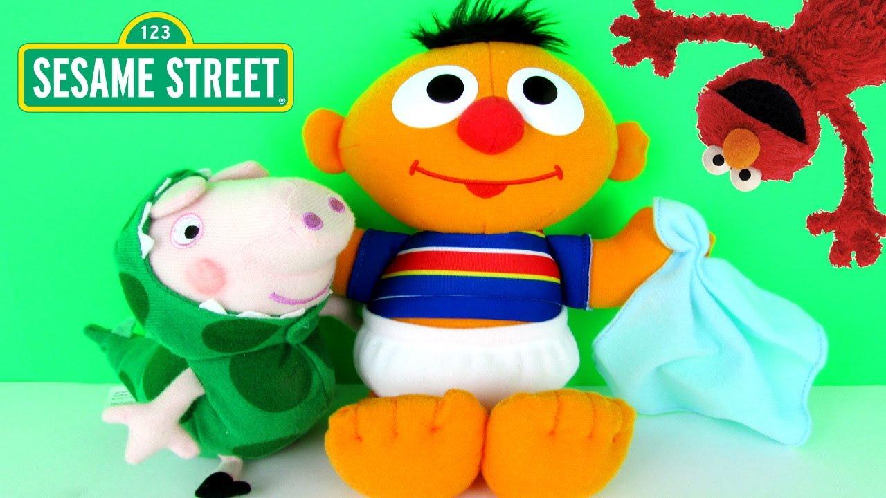 Playskool Sesame Street Baby Sniffles Ernie Talking Soft