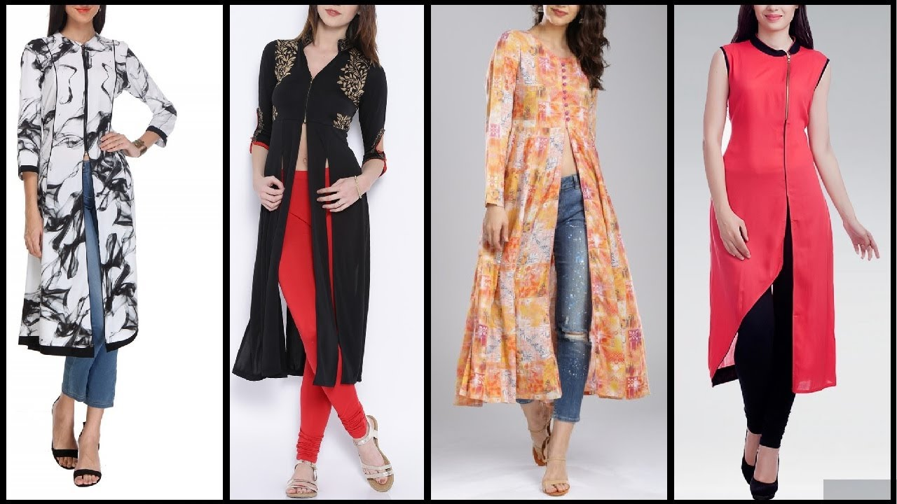 Top Beautiful Kurti Kurta Designs Latest Long Slit